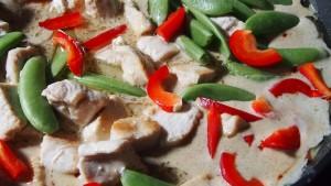 zielone curry z kurczaka