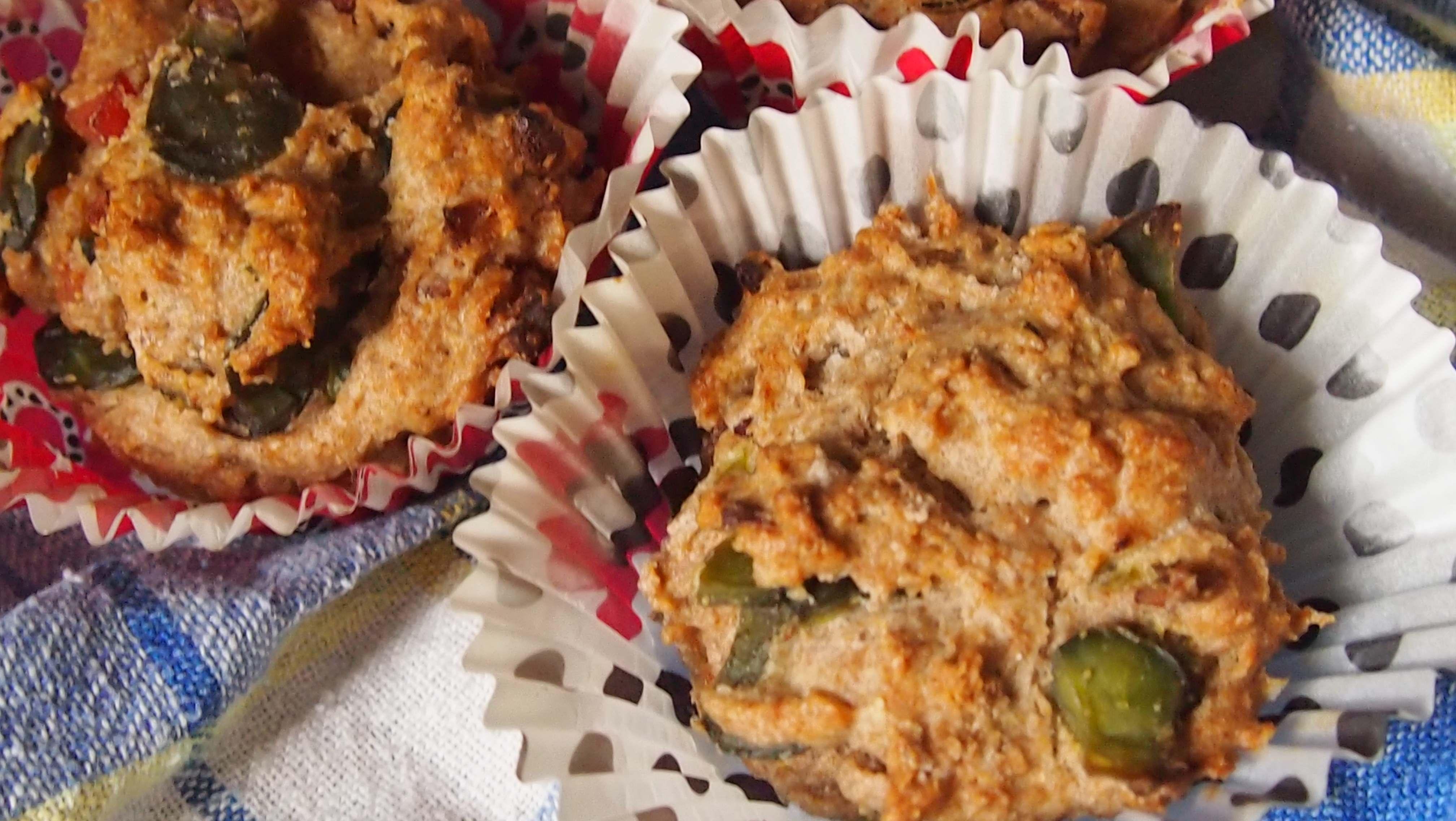 pełnoziarniste muffiny z bobem