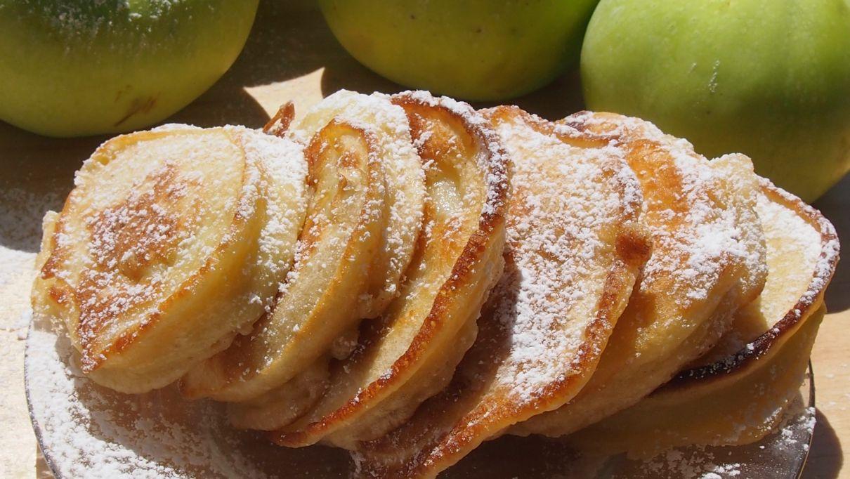 racuchy z jabłkiem