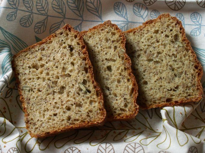 Prosty chleb z ziarnami