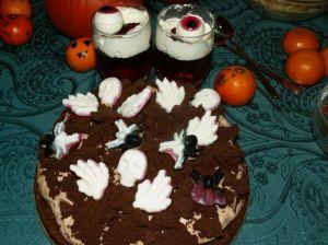 ciasto czekoladowe nahalloween