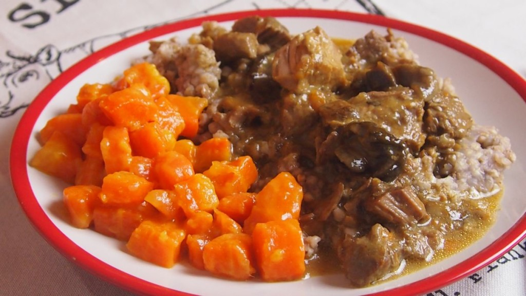 gulasz wieprzowy z grzybami