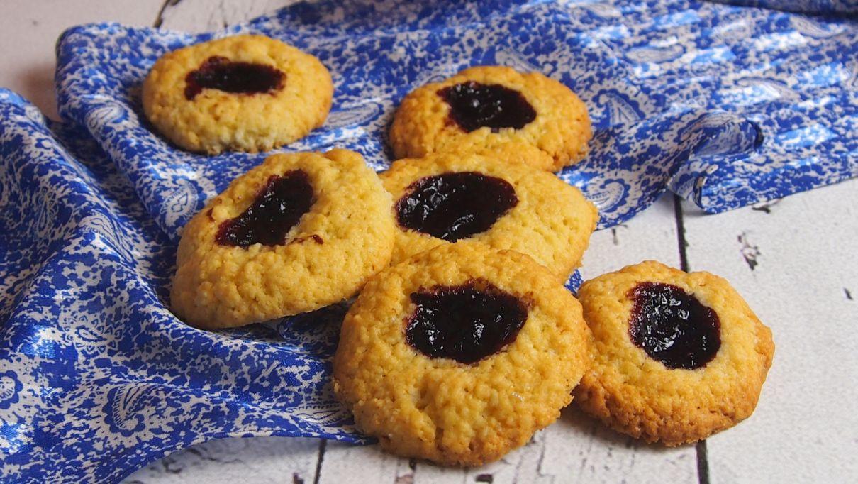 migdałowe ciasteczka z dżemem