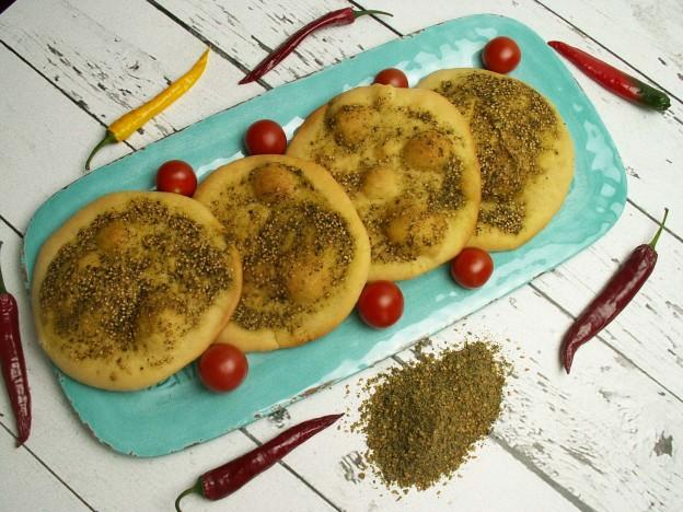 Chlebki z zaatarem czyli manakeesh