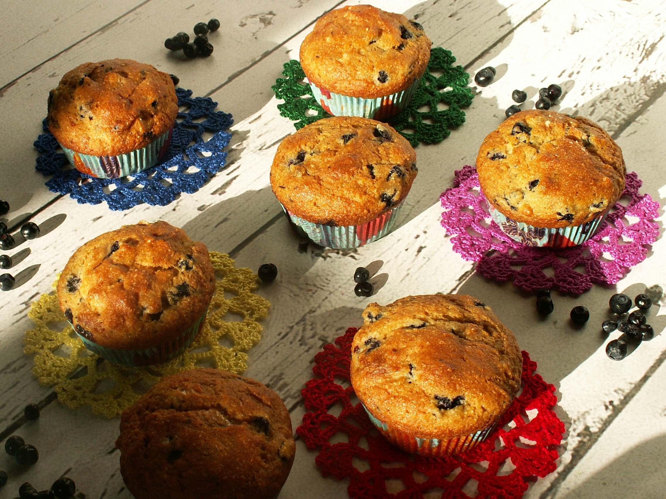 Muffinki z jagodami – bezglutenowe