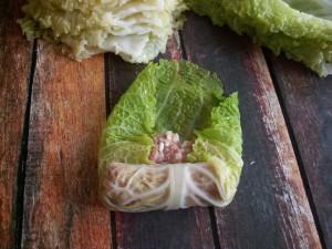 gołąbki foto instrukcja z sosem kurkowym