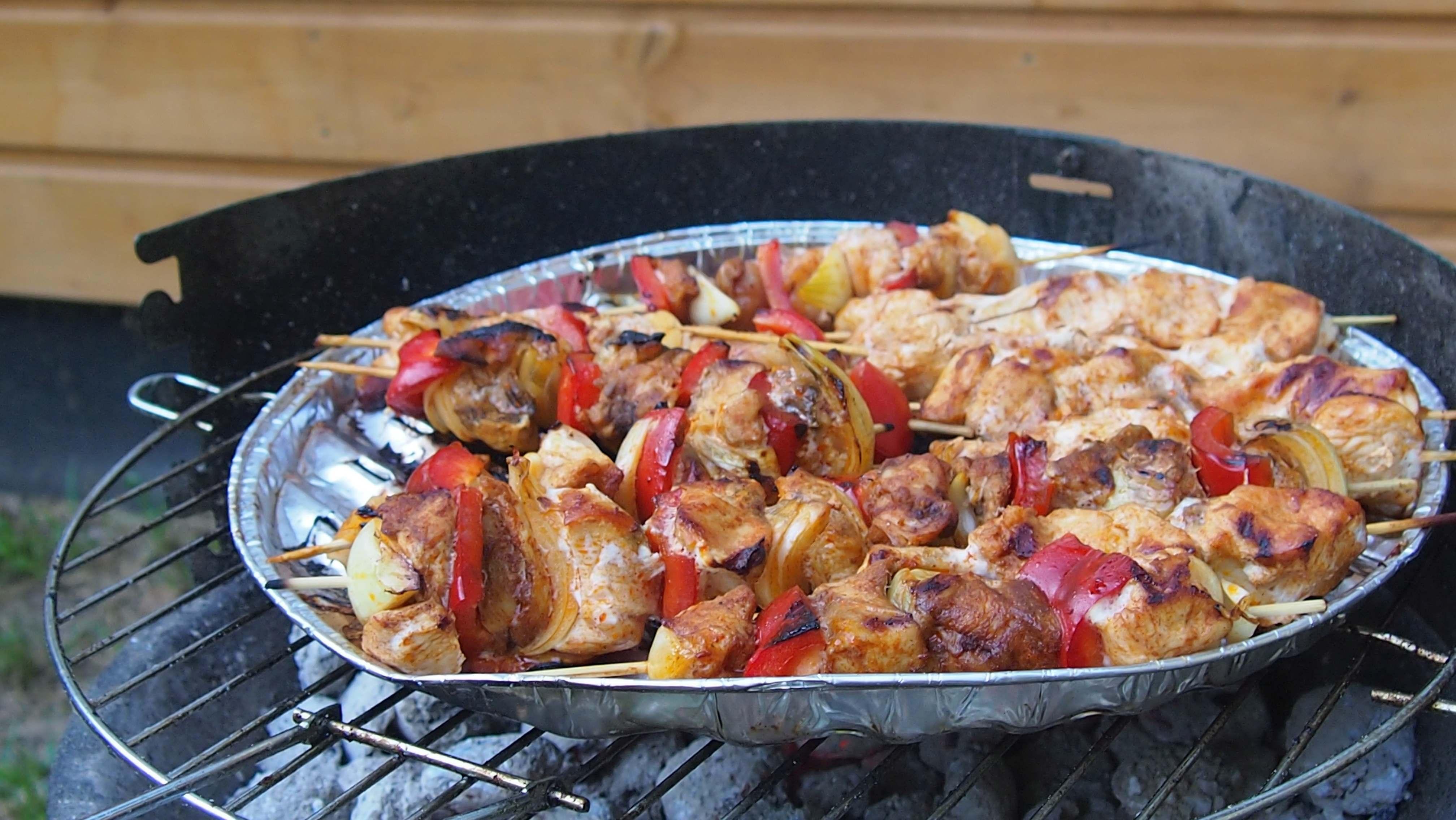 szaszłyki drobiowe z grilla
