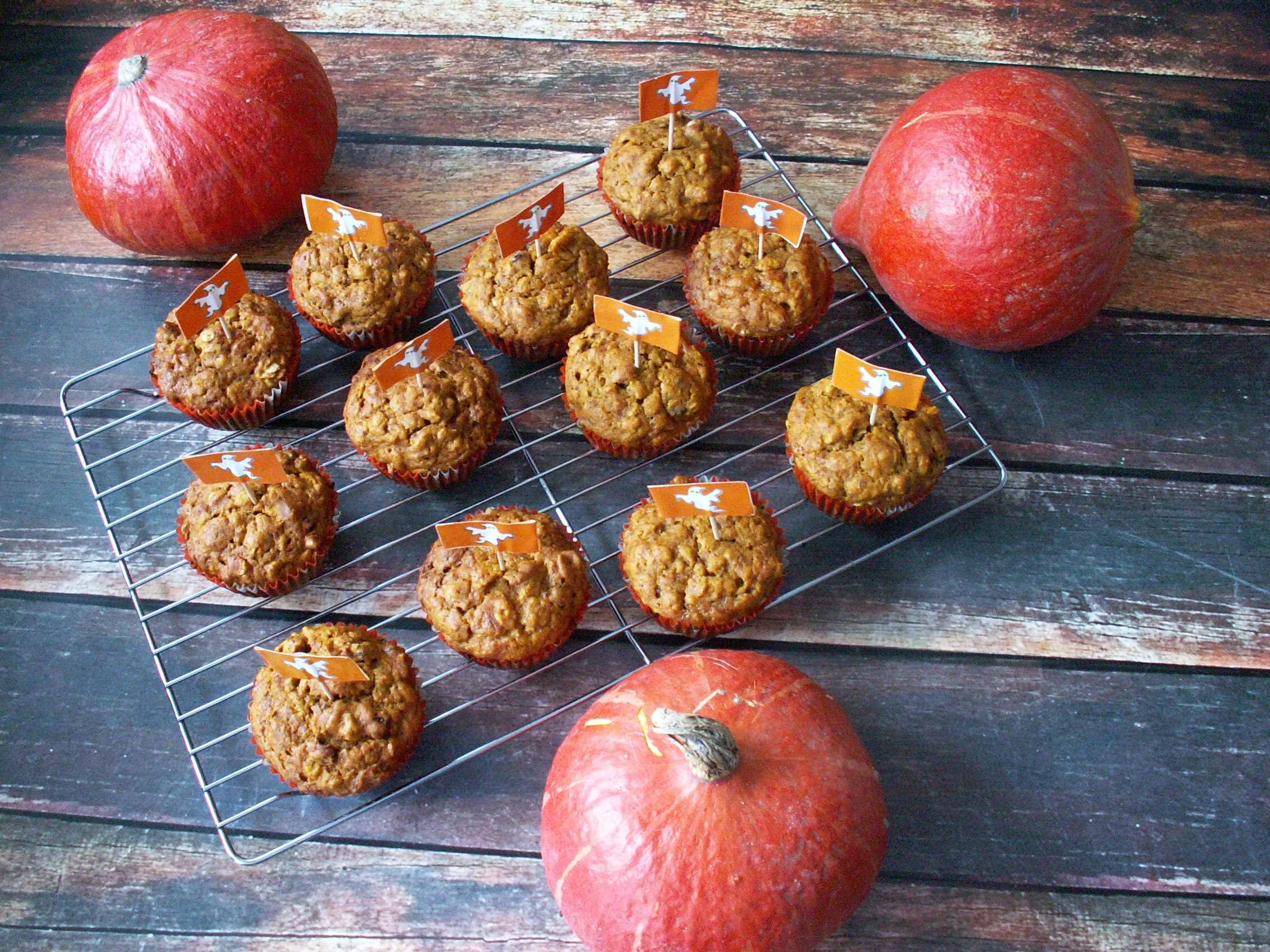 Piernikowe muffiny dyniowe z bakaliami