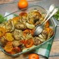 udka pieczone z koprem włoskim i mandarynkami
