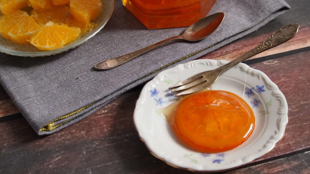 syrop pomarańczowy i kandyzowane pomarańcze