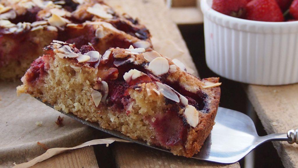 proste ucierane ciasto z owocami