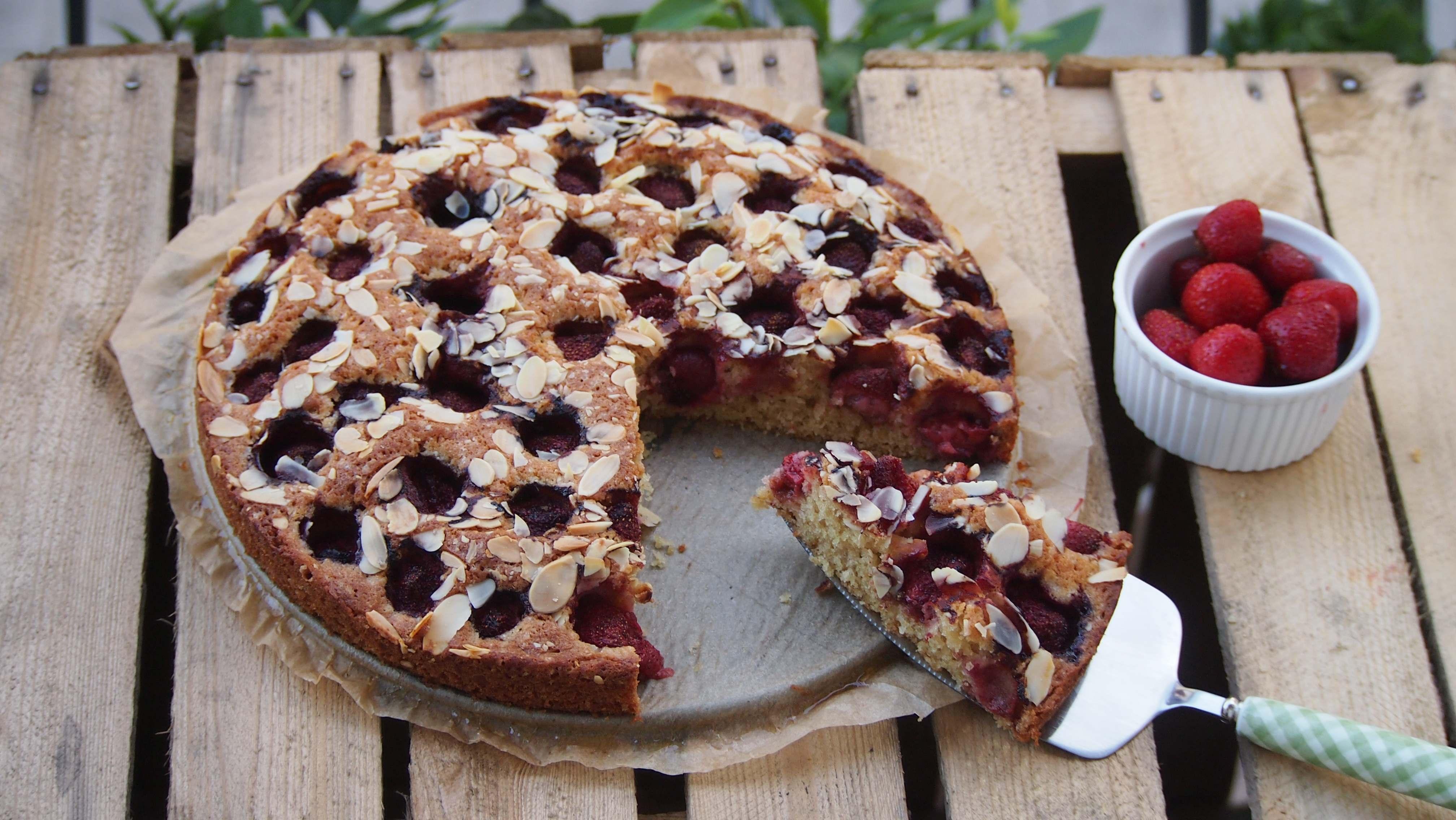 łatwe ucierane ciasto z owocami