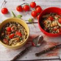 sałatka z quoina, fasolki szparagowej i soczewicy