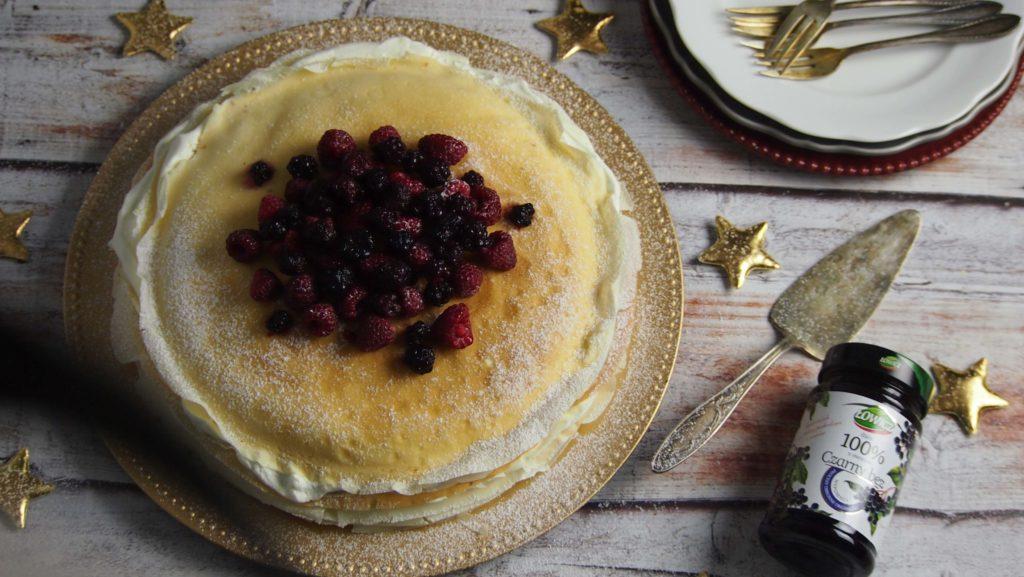 Tort naleśnikowy z dżemem Łowicz 100% owoców czarny bez