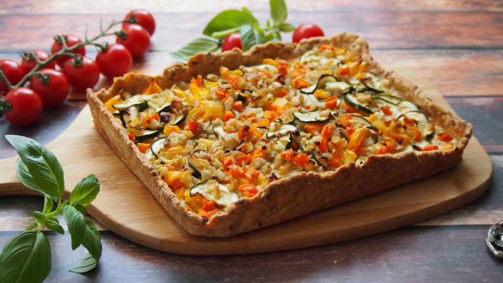 Tarta z warzywami