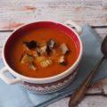 Zupa z grillowanych bakłażanów